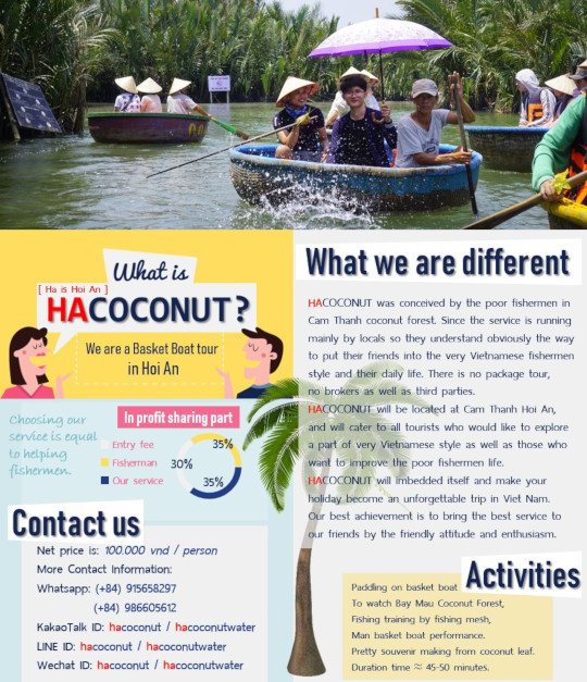 Infographic, what is Hacoconut and coconut boat tour